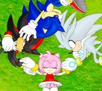 sonic,shadow,silver,amy