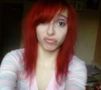 Mich wenn ich habe mein haar rot.