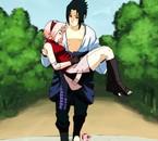Sakura est morte, Sasuke la rammène à Konoha.