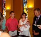 Estelle et Miguel avec leur fille Maëlisse