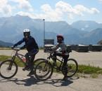 vtt à l'Alpe d'Huez avec mon père