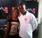 Avec le chanteur franco-congolais Passi ...