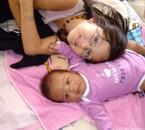et mes deux princesses jvous aiment mes filles