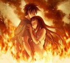 l amour dans les flamme