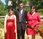 mariage de mon grand frère .  ma soeur mon frère et moi