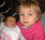 Ma fille avec ma filleul.