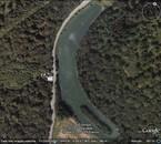 Vue aérienne de l 'étang de Borzies