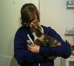 Naomie's cat kissing me. $:
