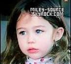 Miley bébé.