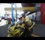 angelo sur la moto d'Oscar