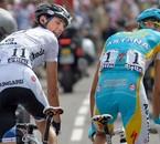 Andy Schleck et Alberto Contador, tour de France 2009.