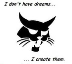I don't have dreams, I create them.