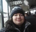 En route pour la pente de ski :)