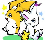 :: Patamon et Gatomon :3 ::