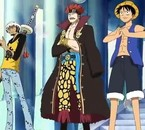 3 Supernovas (Tarlfagar Law , Eustass Kidd & Monkey D. Luffy