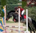 moi avec mon poney en concours