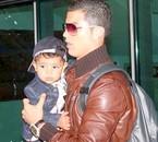 Cristiano et son fils.
