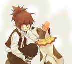 Allen and the doggy... Doggy = Achii' ? xD