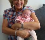 Ma fille Jocelyne et Léa son arrière  petite fille