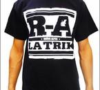 T-Shirt R.A. (Rhône Alpes ) LATRIK noir