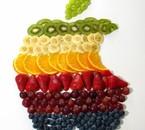 fruits en forme de logo APPLE !