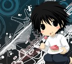 L de death note version chibi !!! Trop mimi ! L je t'aime !!