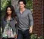 bonnie et damon la sorciere et le vampire proche de elena!!!