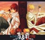 Gaara Kazekage et Naruto Hokage