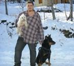 moi et mes 2 chiens