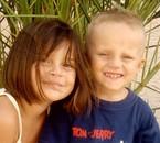 ma nièce et mon neveu....mes amours!!