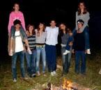 soirée camping dans la forêt ^^