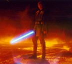 voici Anakin dans l'épisode III avant de brûler