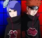pein et konan : les chef d'akatsuki et les plus puissant^^