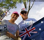 Steph Gilmore and Mick Fanning