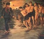 Scene du genocide sous regime dé partisan khmer-rouge (1975)