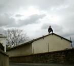Guillaume sur un toit  ^_^