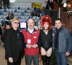 sosie de elton john, le president d'Aléa, et moi