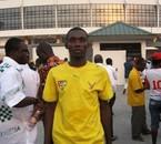 Hugues à l'entrée du stade de Sekondi à la Can 2008