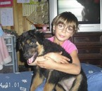 maeva et sa chienne  cheyenne
