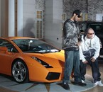 Me and La fouine during the video clip of My first single