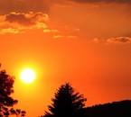 superbe coucher de soleil dans les Vosges
