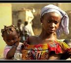 une africaine et son enfant