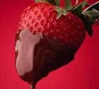 jm po les fraise ni le chocolat mé ca donne envi kan meme
