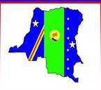 Un drapeau original R.D.Congo répresent centre Afrique