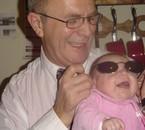 ma fille en rock star avec mon pere