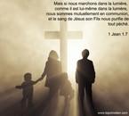 Marchons dans la lumière de Dieu.....