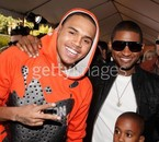 chris with usher