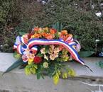 Bouquet de fleurs pour les Saboliens mort pour la France