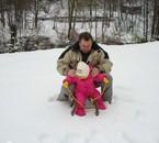 La ptit dans la neige