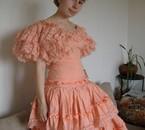 Moi en robe pour mon spectacle de danse espagnole